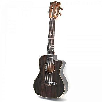 NING-MENG Ukulele Acabado Brillante Palo de Rosa Guitarra Eléctrica ...