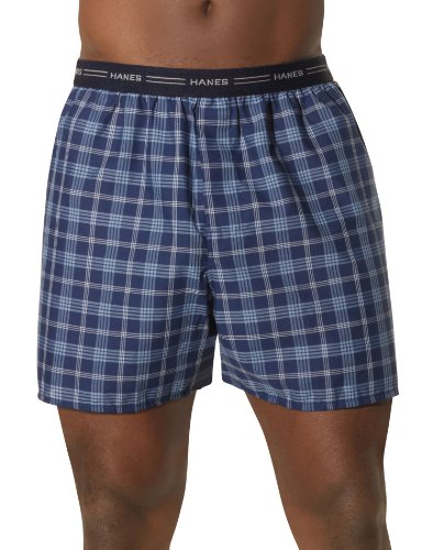 Hanes Yarn Dyed Boxers, M-Assorted Plaid,3 PACK SIZE MEDIUM