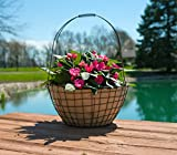 """Panacea 18"""" Rustic Woven Wire Urn Basket with"""