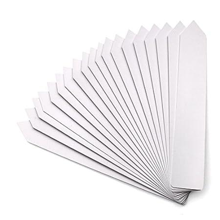 KINGLAKE 100 Stück 20 x 3 cm Groß Pflanzenstecker Plastik Weiß Pflanzenstecker Beschriften Kunststoff Stecketiketten Pflanzen