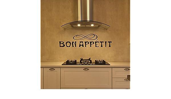 WallsUp Bon Appetit Cocina Pared Vinilo extraíble Familia decoración Adhesivo Decorativo para Pared, Vinilo, Custom, 11