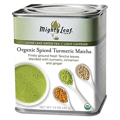 MIGHTY LEAF TEA, TEA, OG2, MATCHA, TURMERIC - Pack of 6 (Best Green Drink Powder 2019)