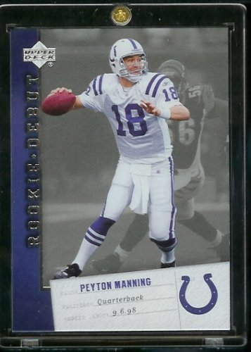 - 2006 Upper Deck Rookie Debut Peyton Manning Indianapolis Colts Football Card #42 - Mint Condition-Shipped In Protective ScrewDown Display Case!!
