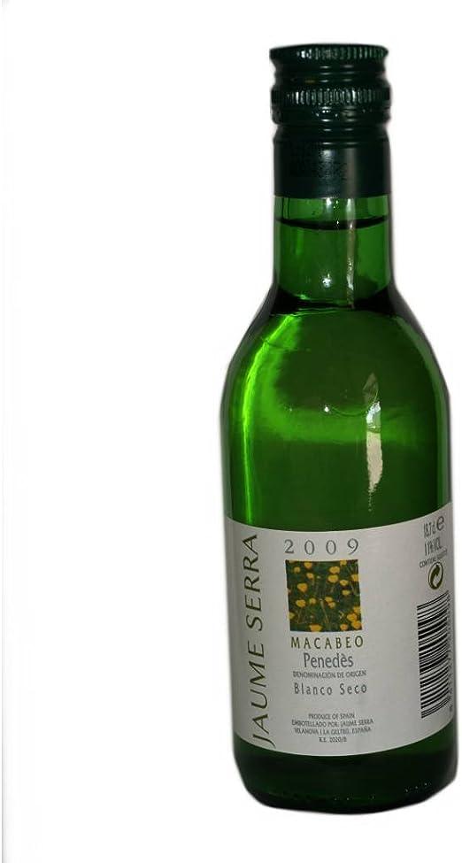 Botellita vino blanco Penedes Jaume Serra(pack 24 unidades) Regalo de invitados de bodas, eventos y comuniones: Amazon.es: Alimentación y bebidas