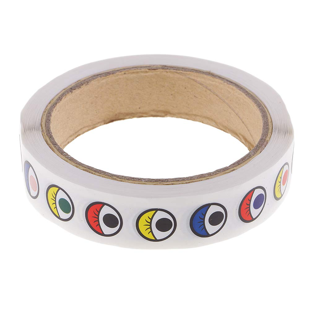 B Baosity 1 Rollo Ojos Adhesivos Diseñ os Amplios Perfectos para Manualidades DIY - Colores