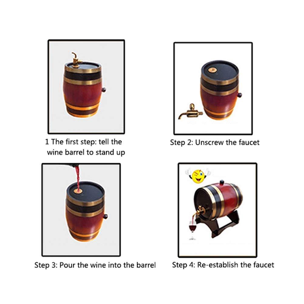 Wood Oak Wine Barrel,Special Timber Wine Barrel Dispenser 1.5L and 3L Storage Bucket Beer Casks for Whiskey Aging Barrel Beer Rum Port