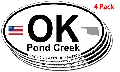 Pond Creek, Oklahoma Oval Sticker - 4 ()