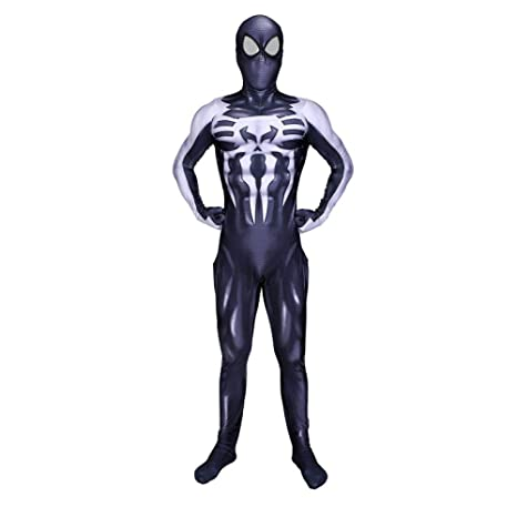 DSFGHE Venom Spiderman Cosplay Traje Medias Simbiosis Body ...
