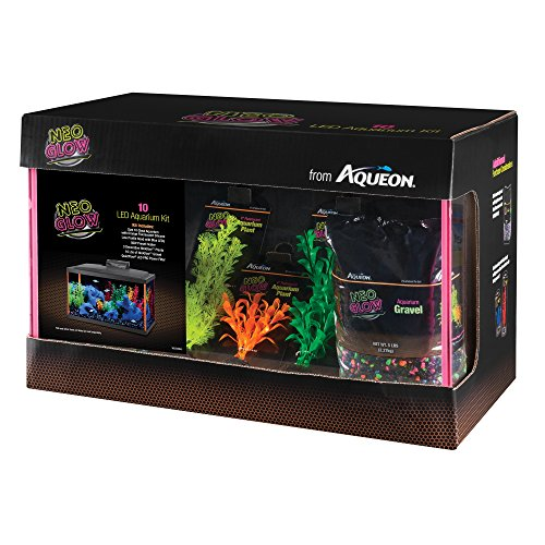 Aqueon Fish Aquarium Starter Kits LED NeoGlow, 10 gallon