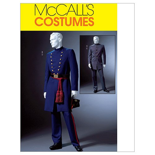 - McCall's Costumes M4745, Men's Civil War Costume Sewing Pattern, S-M-L