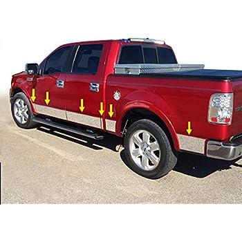 09-2014 Ford F-150 Platinum 6.5/' Short Bed Rocker Panel Trim Stainless Steel