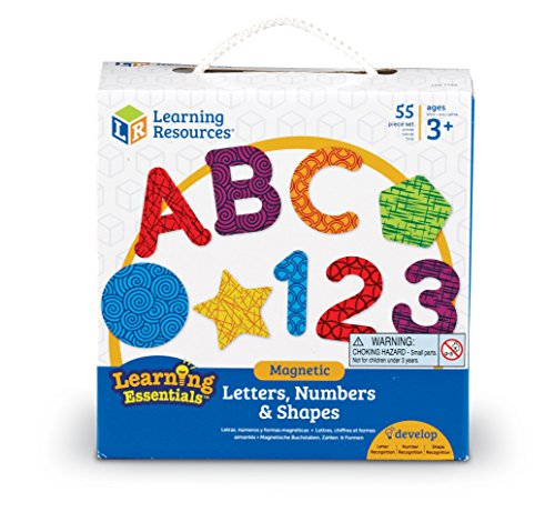 Learning Resources Magnetic Letters, Numbers & Shapes (LER7724) (Set Magnetic Number)