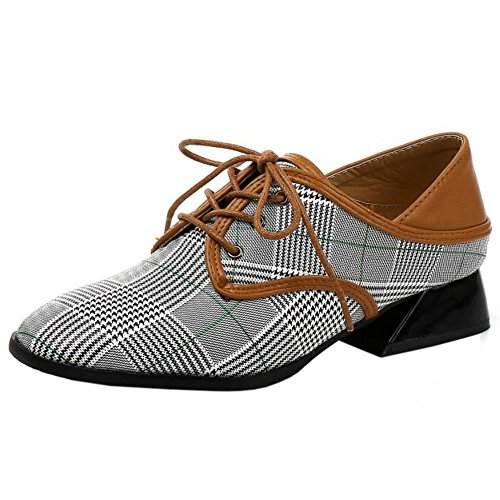 Lace Donna Casual Scarpe 2 Up Zanpa Checkered UqAPwHxW6