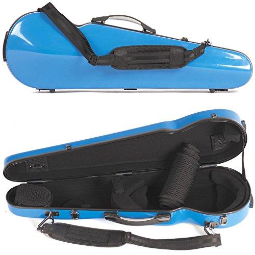 Core 430F Shaped Blue Fiberglass 4/4 Violin Case