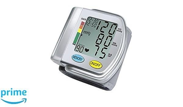 Tipo ChoiceMMed Auto tensiómetro de muñeca con hipertensiones Color Alert y Indicador de latido cardiaco Irregular: Amazon.es: Electrónica
