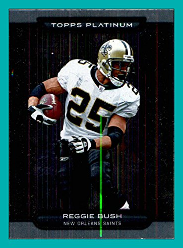 2010 Topps Platinum #136 Reggie Bush NEW ORLEANS SAINTS USC TROJANS (Memorabilia Usc Trojans)