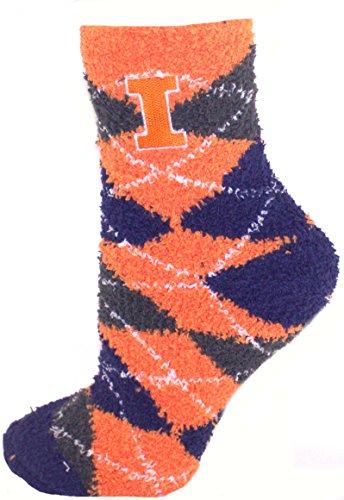 Official Nba White Tube Socks (Illinios Fighting Illini Argyle Fuzzy Lounge Socks)