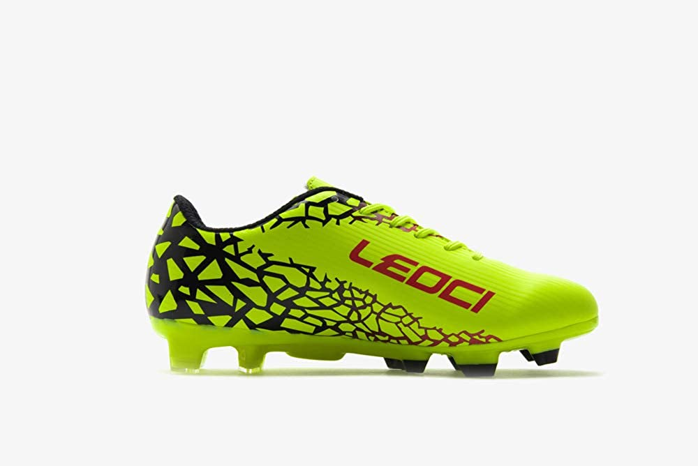 LEOCI Soccer Shoes Athletic Football Shoes for Men and Boy Outdoor Soccer Shoes