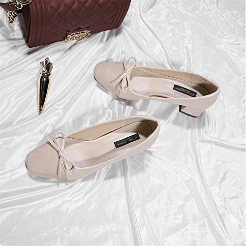 quadrata scarpe con da Xue spessore albicocca scarpe sposa di da le farfalla Scarpette a da damigella Qiqi 35 scarpe tacco femminile femminili con alto Nella scarpe col punta donna qYOzq