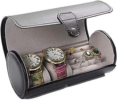 HJ Inicio Caja de reloj Cajas Para Joyas Hombre Mujer Regalo Viaje ...