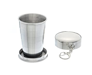 SE OD-CG261BOX Survivor Series Stainless Steel Collapsible Cup and Hard Case (2.5 fl. oz.)