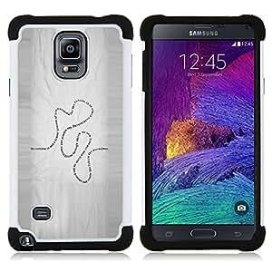 For Samsung Galaxy Note 4 SM-N910 N910 - Present Life Education Learning Quote Road /[Hybrid 3 en 1 Impacto resistente a prueba de golpes de protecci????n] de silicona y pl????stico Def/ - Super Marley S