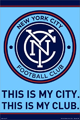 New York City FC | NYCFC | Official Team Crest Poster