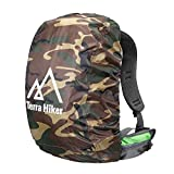 Terra Hiker Backpack Rain Cover, Pack Cover, Backpack Waterproof Cover for Hiking, Camping, Climbing, Cycling (Camouflage for 45-60 L)