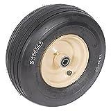 B1SB8553 New Grasshopper Woods Mower Tubeless Wheel Caster Ribbed Tan 3-3/4