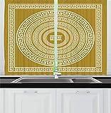 Ambesonne Greek Key Kitchen Curtains%2C ...