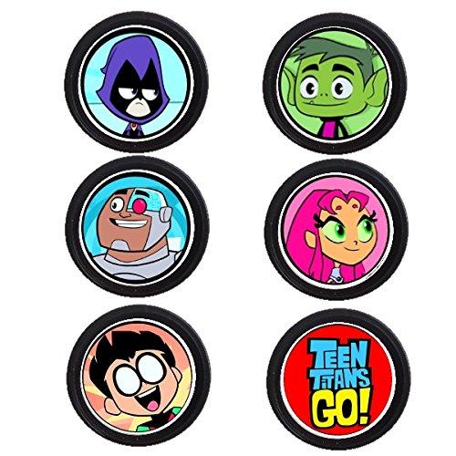 12 Teen Titans Birthday Party Custom Age Cupcake Topper