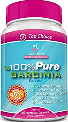 100% PURE Garcinia Cambogia Extract -95% HCA (Highest Available) Up to 7000/mg day for Maximum Results - Highest Garcinia Cambogia and HCA content on Amazon - Clinically Proven for Weight Loss