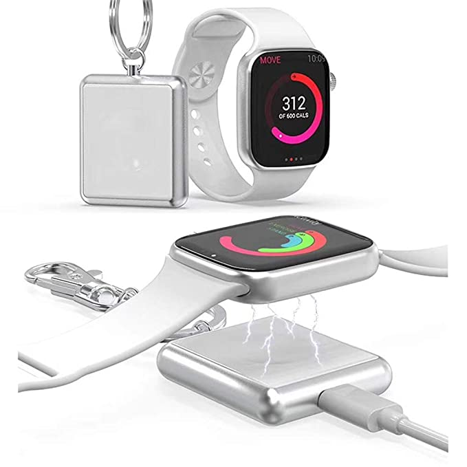 Chargers Consumer Electronics Original Charging Dock For Apple Watch Wireless Charger Magnetic Adsorption Stand Travel Portable With Keychain