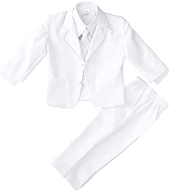 f23e1de8f56c Amazon.com: Black n Bianco Infant Baby and Toddler Boys White Formal ...