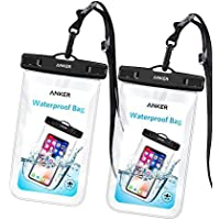 2-Pack Anker Universal IPX8 Waterproof Case for iPhone X / 8 / 8 Plus, Samsung Galaxy S8 / S7, Samsung Note Series, Google Pixel 2