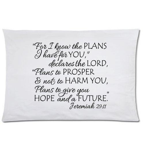 Little Sun 98 Bible Verse Series 05 Pillowcase Standard Size 20×30£¨One Side£©Design Cotton Polyester Pillow Case