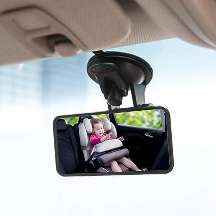 Suntop Auto Baby Spiegel Einstellbare Rücksitzspiegel Für Babys Rückspiegel Mit Saugnapf Rücksitzspiegel Baby Kinder Rückspiegel Baby