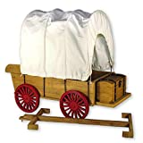 Furniture & Accessory for 18 Inch American Girl Dolls! Officially Licensed Little House on the Prairiel Covered Wagon & Sleigh Conversion Kit! Fits 2 Dolls & 2 Horses. Reigns Included.