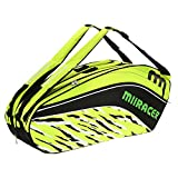 Lixada 9 Racquet Bag Badminton Tennis Racket Bag Backpack Racket Storage Bag Holder