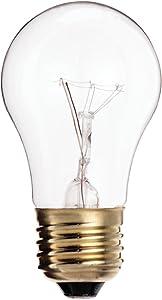 Satco 15A15 Incandescent General Service, 15W E26 A15, 48 Clear Bulbs