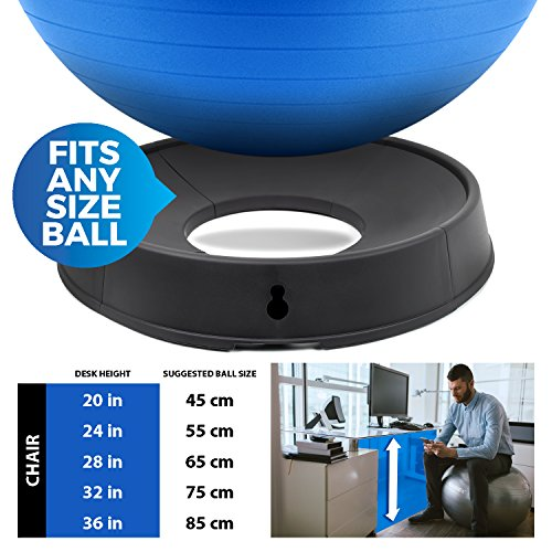 URBNFit Exercise Ball Base - 4 Piece - Balance Ball Stand for Workouts or Use As an Office Chair at Your Desk - Create a Pregnancy Seat for Birthing Exercises, Yoga, Pilates (4 Piece) by URBNFit (Image #4)