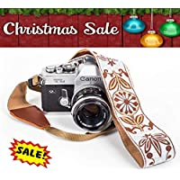 White Woven Vintage Camera Strap Belt For All DSLR...