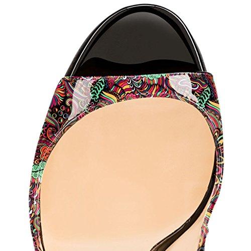 EDEFS - Zapatos con tacón Mujer Blume-Rote