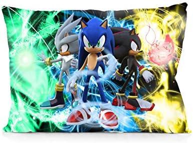 DoubleUSA Sonic The Hedgehog Pillowcases Both Sides Print Zipper Pillow Covers 20x30