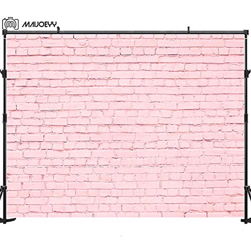 Pink Brick - Maijoeyy 7x5ft Brick Wall Photography Backdrop for Birthday Party Pink Brick Wall Photo Backdrop for Picture Newborn Baby Photo Studio Props Decorations Soft Fabric Photography Background