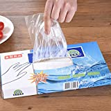 Gold Happy 100 Pcs/Box Disposable Vinyl Glove Multifuction Transparent Thin Gloves Waterproof For Housework Cleaning Kitchen Baking Gloves