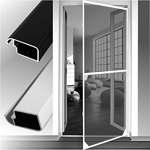 Insektenschutztür Alu Rahmen System für Türen 120x240cm anthrazitgrau