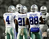"Ezekiel Elliott Dak Prescott Dez Bryant Dallas Cowboys 2016 Spotlight Photo (8"" x 10"")"