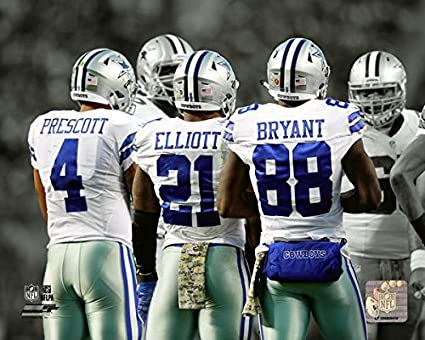 Ezekiel Elliott Dak Prescott Dez Bryant Dallas Cowboys 2016 Spotlight Photo 8 X 10