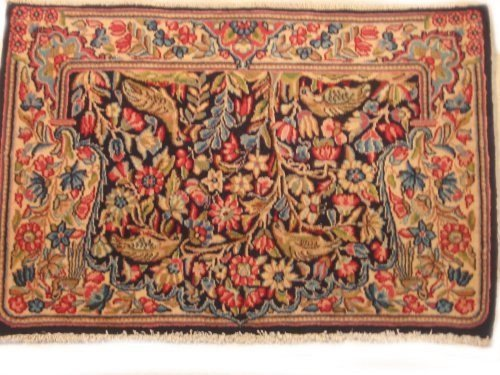 (Sona-Lux hand-knotted carpet in Persien, Kerman 0.88 x 0.62 m (2ft9